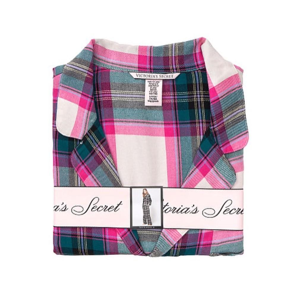 Фланелевая пижама Виктория Сикрет Flannel Long PJ Set