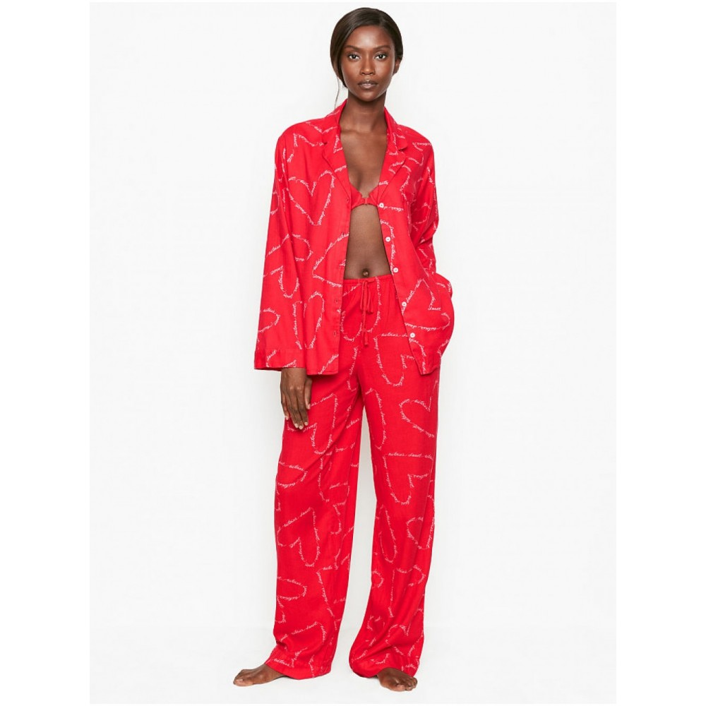 Красная Пижама VS Flannel Long PJ Set
