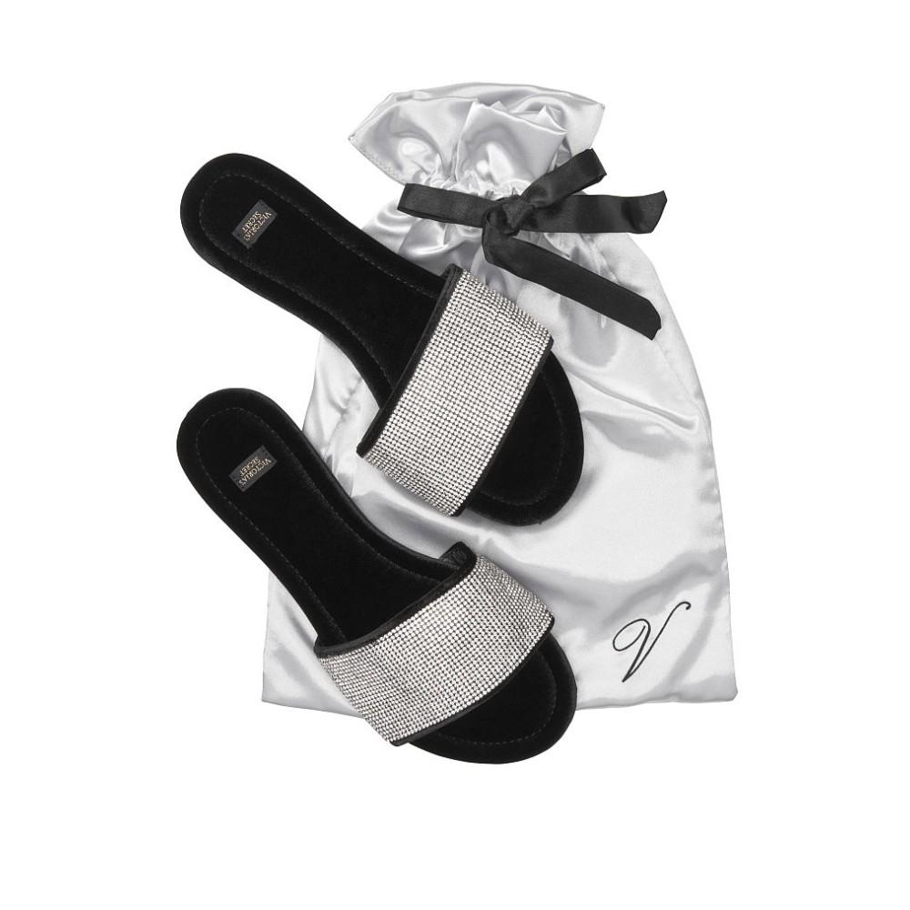 Домашние тапочки Виктория Сикрет VS Embellished Velvet Slides