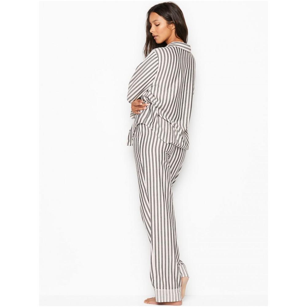 Пижама в полоску VS Flannel Long PJ Set